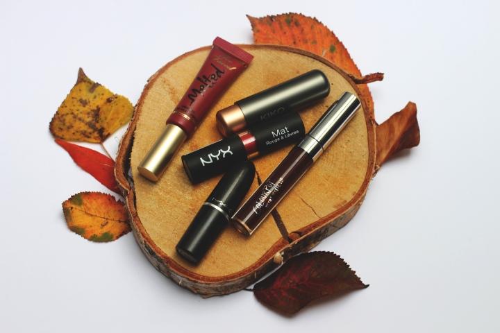 5 rouges à lèvres pourl'automne
