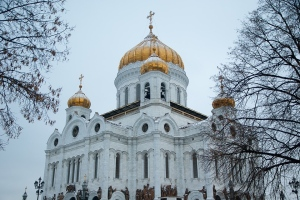 Cathedral Moscow Dome Orthodox Bulbs