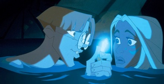 Atlantis the lost empire Kida, Milo and the crystal